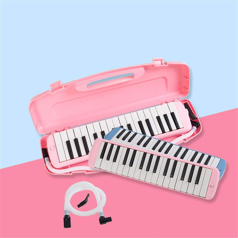 Melodica Musical Instrument 32 Keys Piano Keyboard Style Melodica With Portable Carrying Case Kids Musical Instrument Gift Toys For Music Lovers Beginners Mouthpieces Tube Sets Blue Pink for Music Lov by Shirleyle-MU (Image #6)