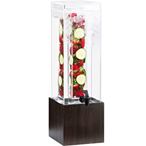 Cal-Mil 1527-1INF-96 Midnight Bamboo Beverage Dispenser, Infusion Chamber, 17.75