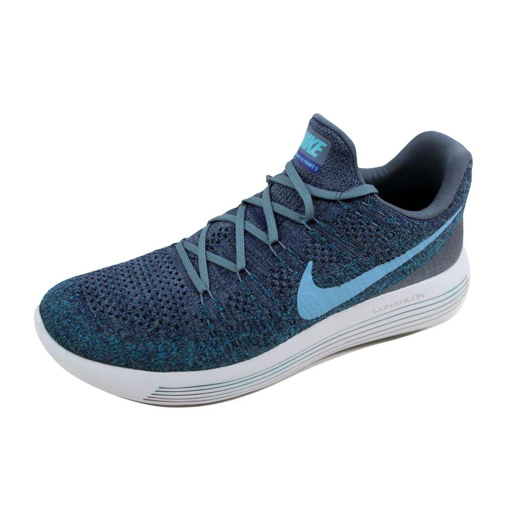 Bleu Fox College Navy 404 Nike Lunarepic Low Flyknit 2, Chaussures de Running Homme 40.5 EU