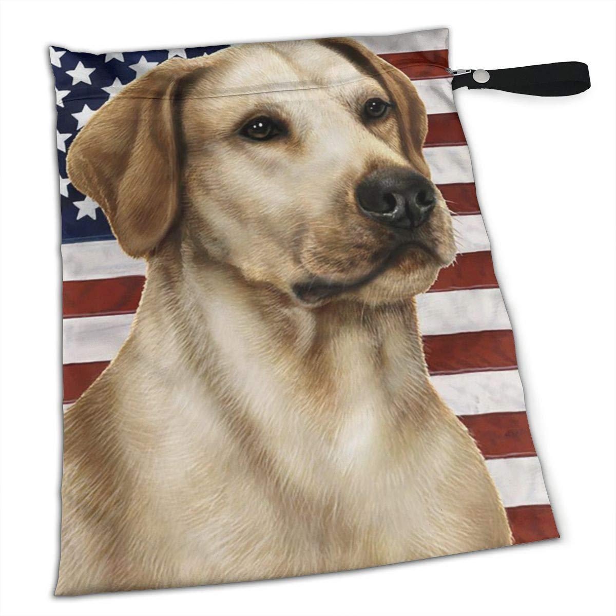 Amazon.com: Bandera Americana Labrador Perro USA Lab Premium ...