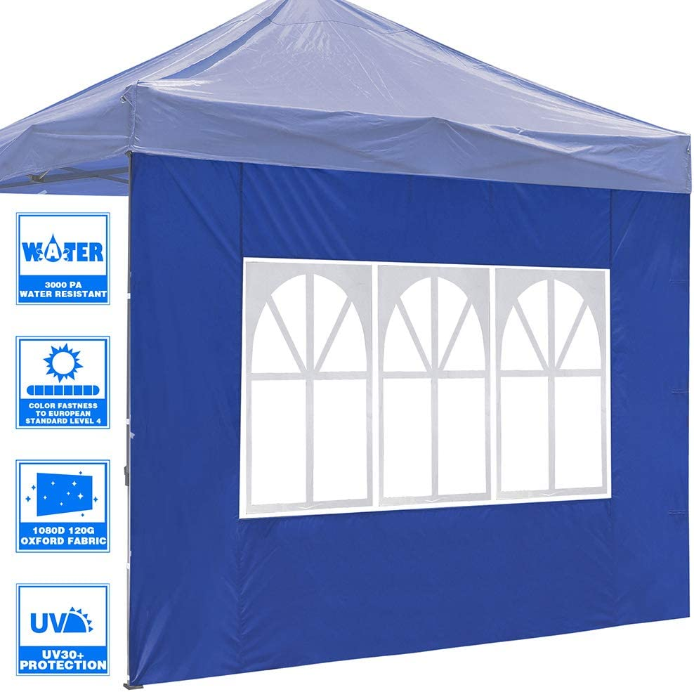 Instahibit Universal Window Decor Sidewall UV30+ Fit 10ft Outdoor Sport Event Camping Party Canopy Tent Shading 1 Pack