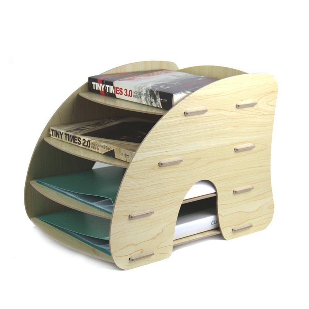 desmontable madera A4 Organizador con de escritorio con 4 estantes GossipBoy