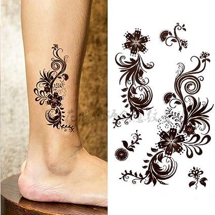 Arte corporal de encaje impermeable tatuajes sexy temporales para ...