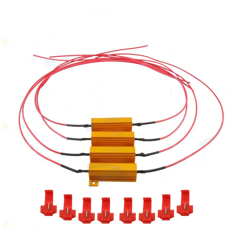 4pcs Artr 50w 6ohm Load Resistors With Extra Long Wire Here Is The Wiring Diagram For Just Turn Signals How They Work 177 Inch Fix Led Bulb Fast Hyper Flash Signal Blink Error Code Automotive