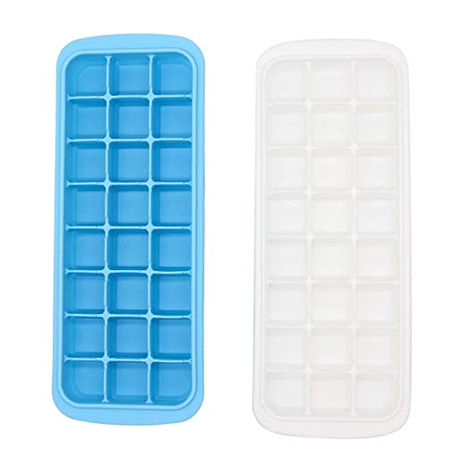Bandeja de silicona para cubitos de hielo con tapa resistente a ...