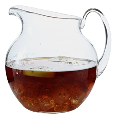 Lily's Home Shatterproof Plastic Pitcher, the Large Capacity Makes it Excellent for Parties, Both Indoor and Outdoor, Clear (110 Ounces)