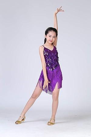 FUKJO Niño Latin Danza Vestido Latino Dance Disfraz Niño Danza ...