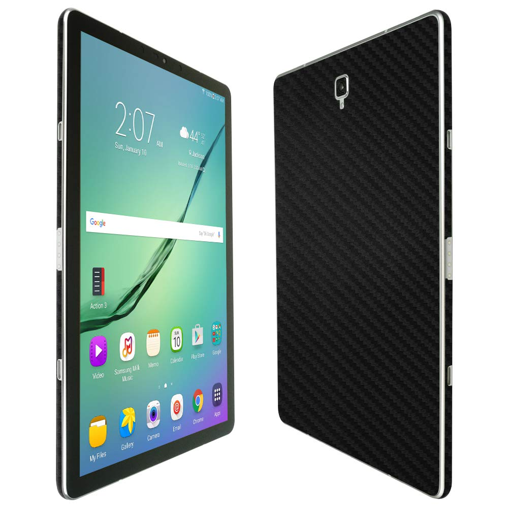 Skinomi Samsung Galaxy Tab s4スクリーンプロテクター+カーボンファイバーフルボディ(10.5インチ、sm-t1835)、TechSkinカーボンファイバースキンfor Samsung Galaxy Tab s4 with気泡防止クリアフィルム画面   B07BZ5XBN2