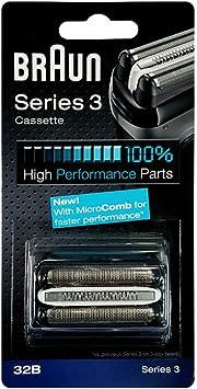 Braun - Combi-pack 32B - Láminas de recambio + portacuchillas para afeitadoras Nueva Series 3 300/340: Amazon.es: Salud y cuidado personal