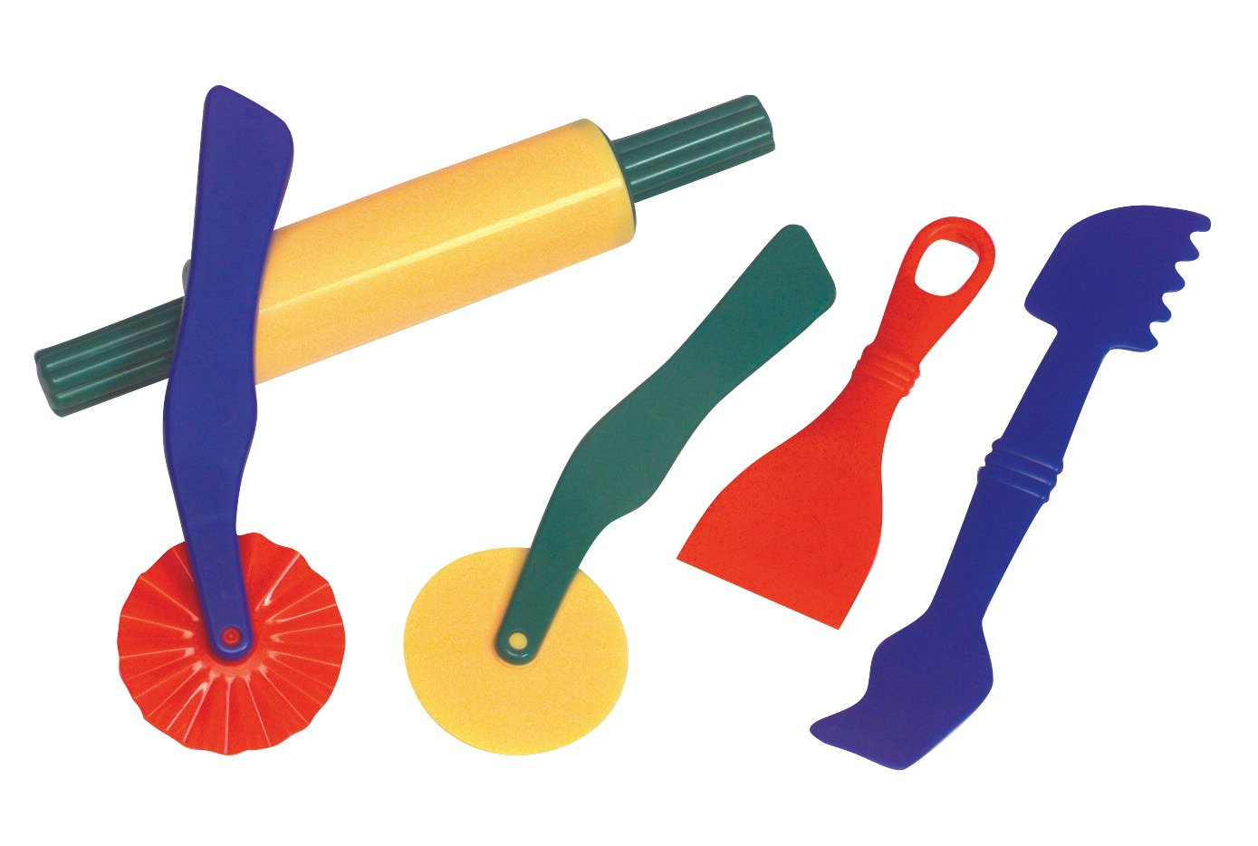 amazon com school smart plastic dough tools set of 5 assorted rh amazon com play dough snakes clipart play doh center clipart