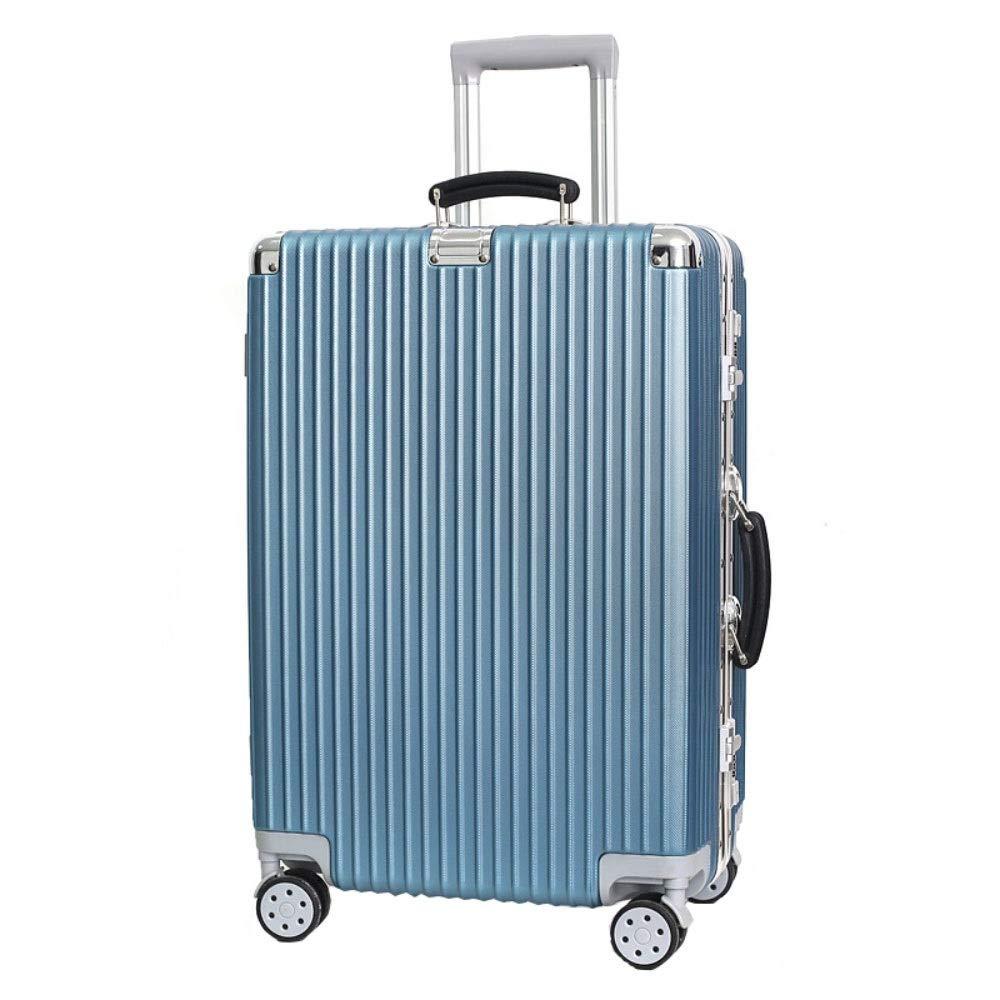 トロリーケースユニバーサルホイール荷物スーツケース20インチ搭乗パスワードスーツケース (Color : 青, Size : 24 inches)   B07R2MPTT8