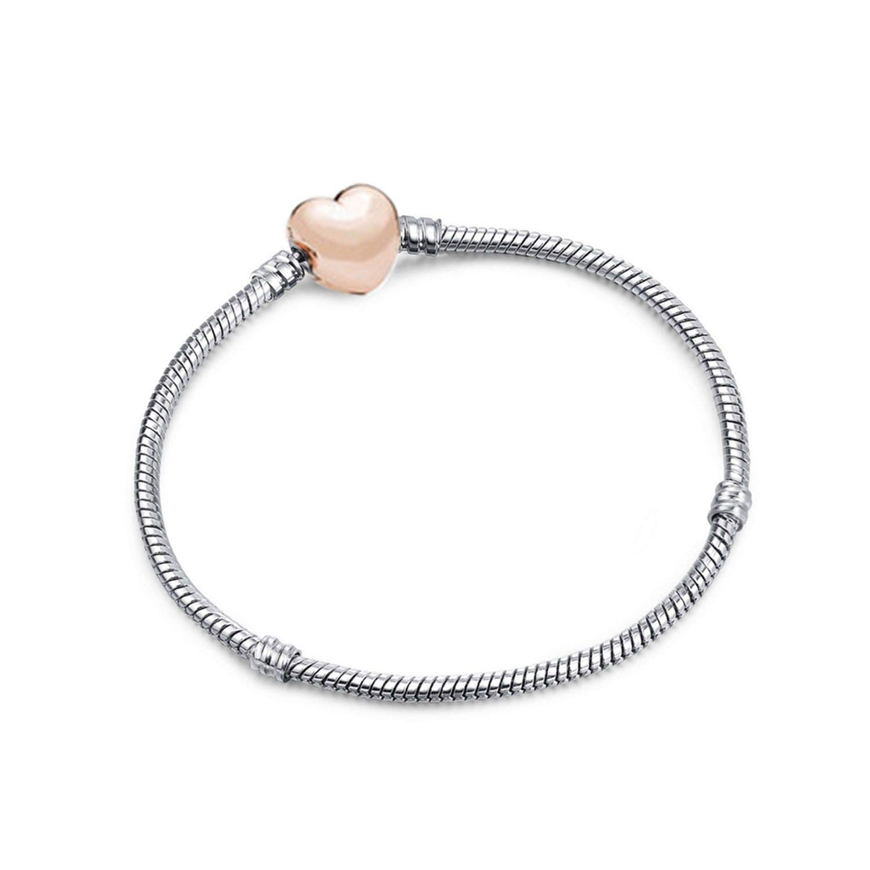 YoYo-Star Silver Snake Chain DIY Charm Bracelet Bangle DIY Fine Bracelet Jewelry