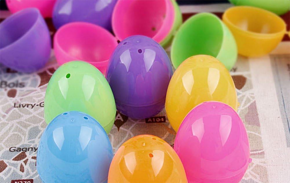 Kentop D/écoration oeufs Plastique /œufs de P/âques P/âques de P/âques 6/x 4/cm Al/éatoire Couleur 6pcs
