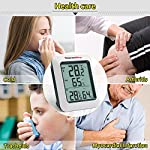 ThermoPro TP60S Digital Hygrometer Indoor Outdoor Thermometer Wireless Temperature and Humidity Gauge Monitor Room Thermometer with 200ft/60m Range Humidity Meter 11 Informational: Weather stations wireless indoor outdoor records all time/24 hours max and min temperature and humidity readings; wireless thermometer indoor outdoor with temperature trend arrows indicate whether it's getting warmer or colder near the remote temperature monitor Smart design: Temperature and humidity monitor can display the readings from up to 3 temperature sensors to monitor different locations; additional sensor can be ordered Wide temp and humid range: Inside outside thermometer hydrometer measures indoor outdoor temperature and humidity percentages simultaneously; Indoor/outdoor temperature range: -4°f to 158°f (-20°c to 70°c); humidity range: 10% to 99%