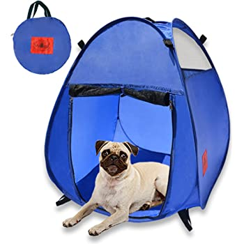 Amazon Mydeal Pop Up Pet House In A Bag For Portable Play Pen