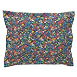 Roostery Polyhedron Photographic Game Polyhedral Gaming Dungeons Pillow Sham