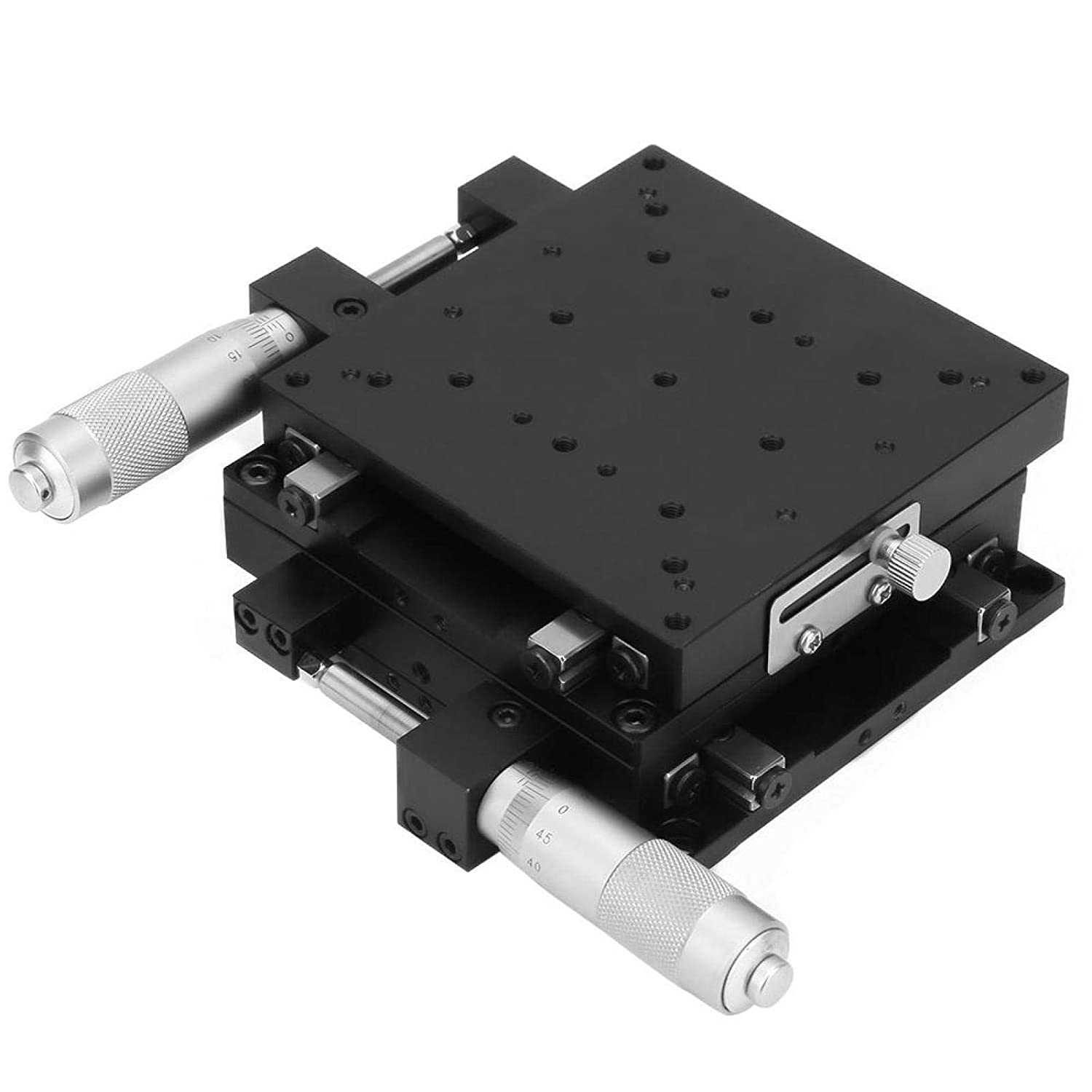XY Micrometer Manual Fine‑Tuning Cross Roller Accuracy Linear Stages 10010040mm,Micrometer Manual Precision Linear Translation Stage