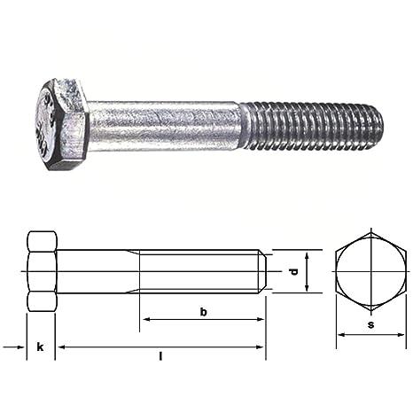 25 Sechskantschrauben DIN 933 8.8 verzinkt M 12x90