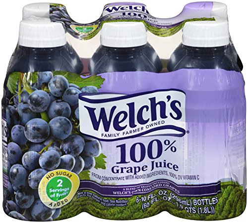 Welch's 100% Grape Juice, 10-Ounce Bottles (Pack of 24)