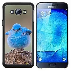Dragon Case - FOR Samsung Galaxy A8 A8000 - blue baby chick cute bird tropical spring - Caja protectora de pl??stico duro de la cubierta Dise?¡Ào Slim Fit