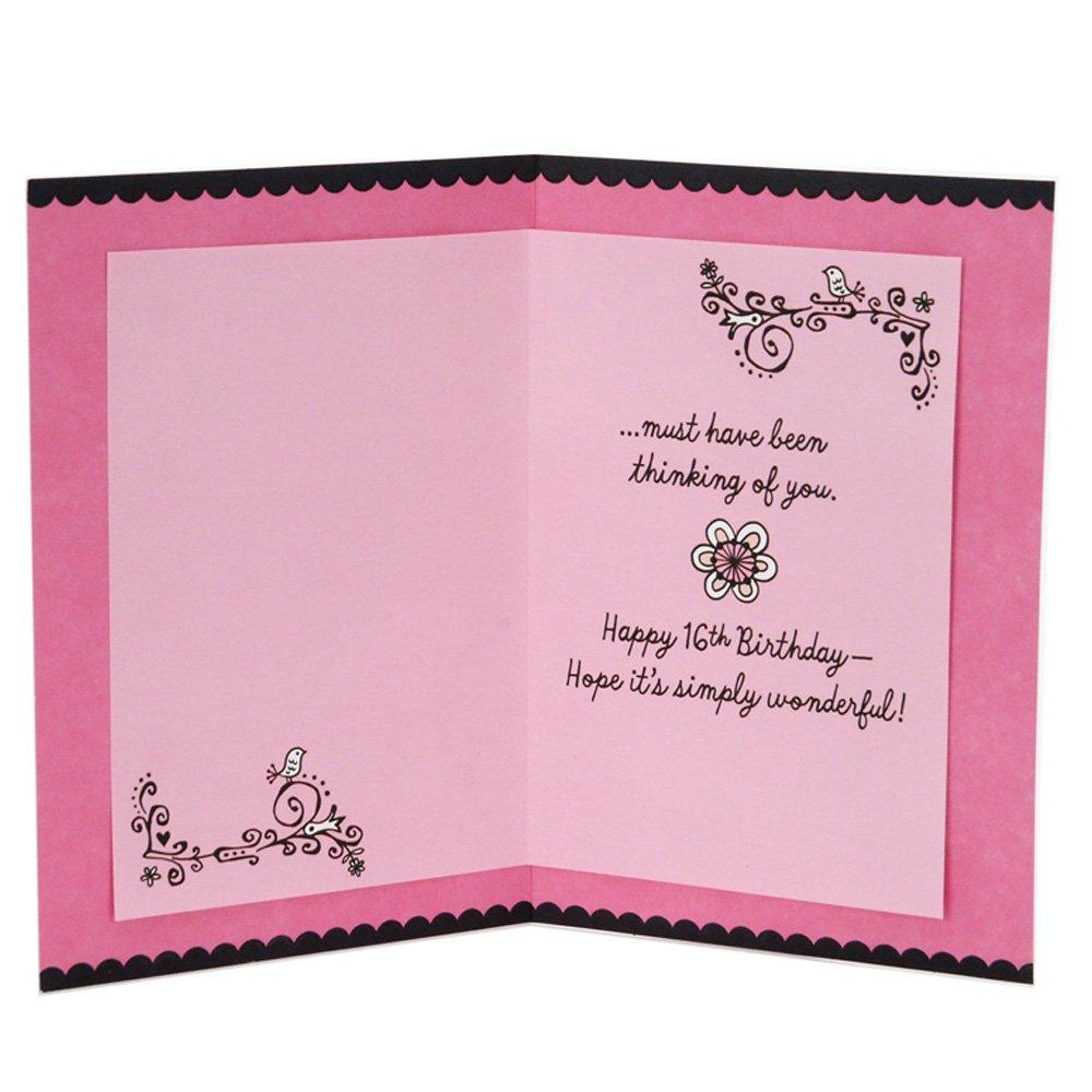 Amazon Hallmark 16th Birthday Card For Her Sweet Flowers
