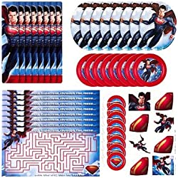 Superman Birthday Party Favor Set