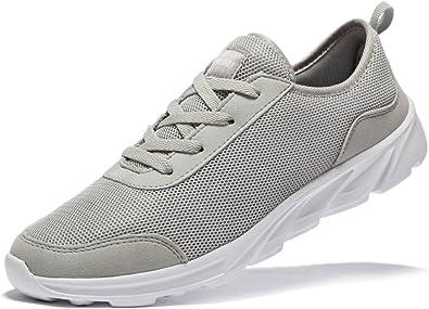 newluhu - zapatillas deportivas, ligeras, para correr, color gris ...