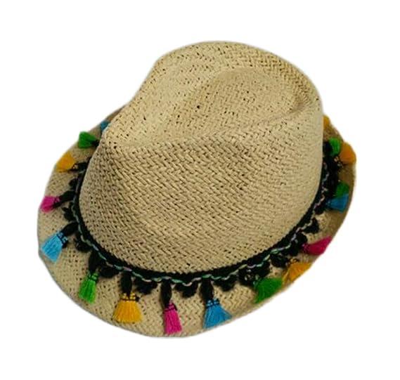 Leisial Sombrero para el Sol Moda Ocio Sombrero de Paja Playa Sombrero del  Jazz Gorro Visera para el Aire Libre Viaje Verano Primavera para Chicas  Chicos ... 9dc471d695b