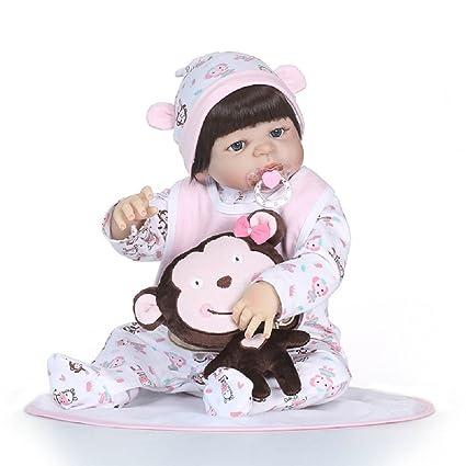 31dd9bf656fbc Amazon.com: NPKDOLL Rebron Baby Doll 22inch 55cm Hard Simulation ...