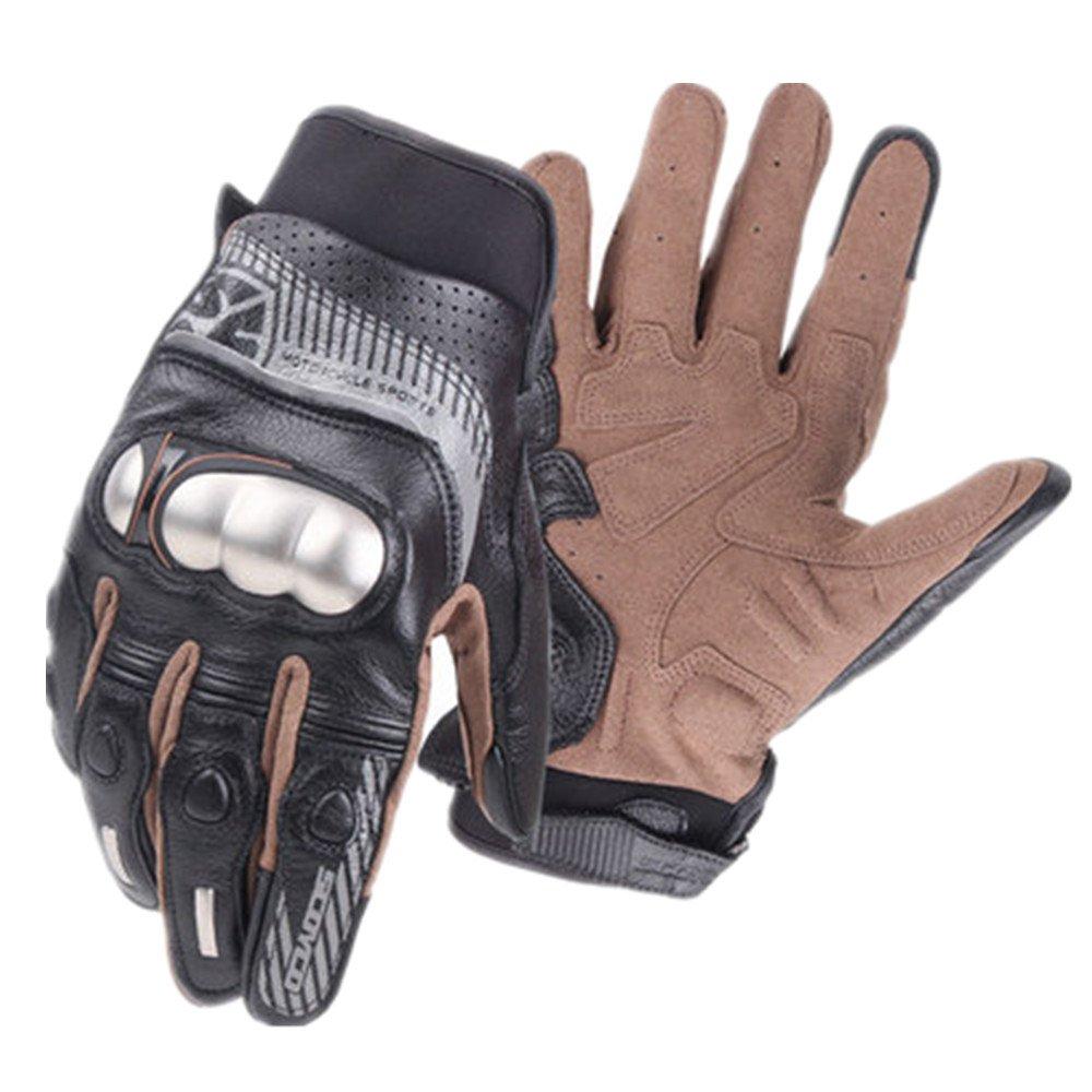 QARYYQ Outdoor Sports Bruchsichere Edelstahlhandschuhe Wandern Wandern Jagd Angeln Fahrradhandschuhe, Schwarz Handschuh (größe   XL)