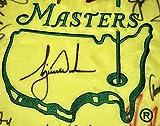 Masters golf flag signed Jordan Spieth Tiger Woods Jack Nicklaus Arnold Palmer 30 champions augusta national psa dna loa