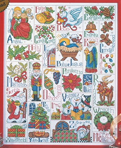 Design Works Counted Cross Stitch Kit Christmas ABC ()