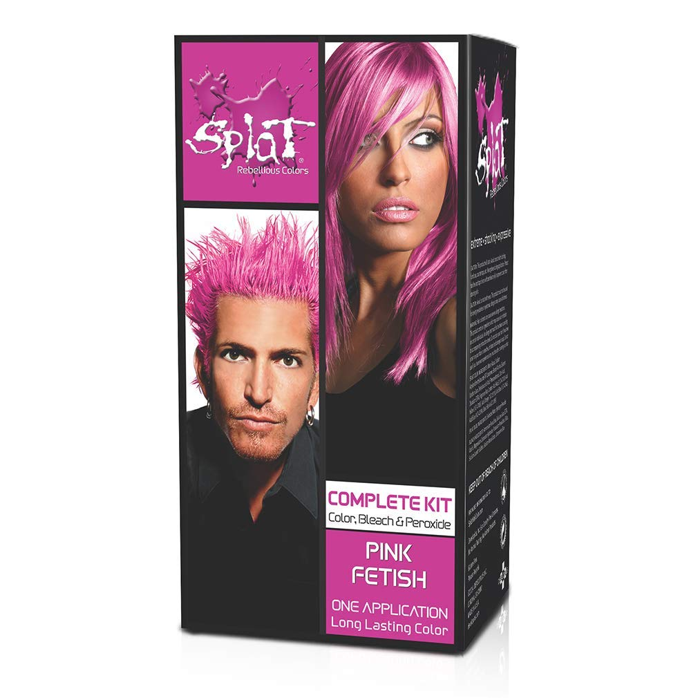 Amazon Com Splat Hair Color Complete Kit Pink Fetish Chemical Hair Dyes Beauty