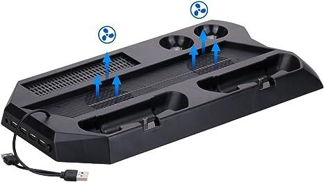 9CDeer Multifunción Estar Apoyo para Consola PS4 PRO y Conector de ...