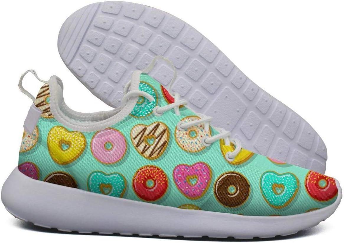 Unjdahsdd Zapatillas de Tenis para Mujer, diseño de Rosas, Rojas, Verde Menta, diseño de Donut Pop Heart, Ligeras, Transpirables: Amazon.es: Deportes y aire libre