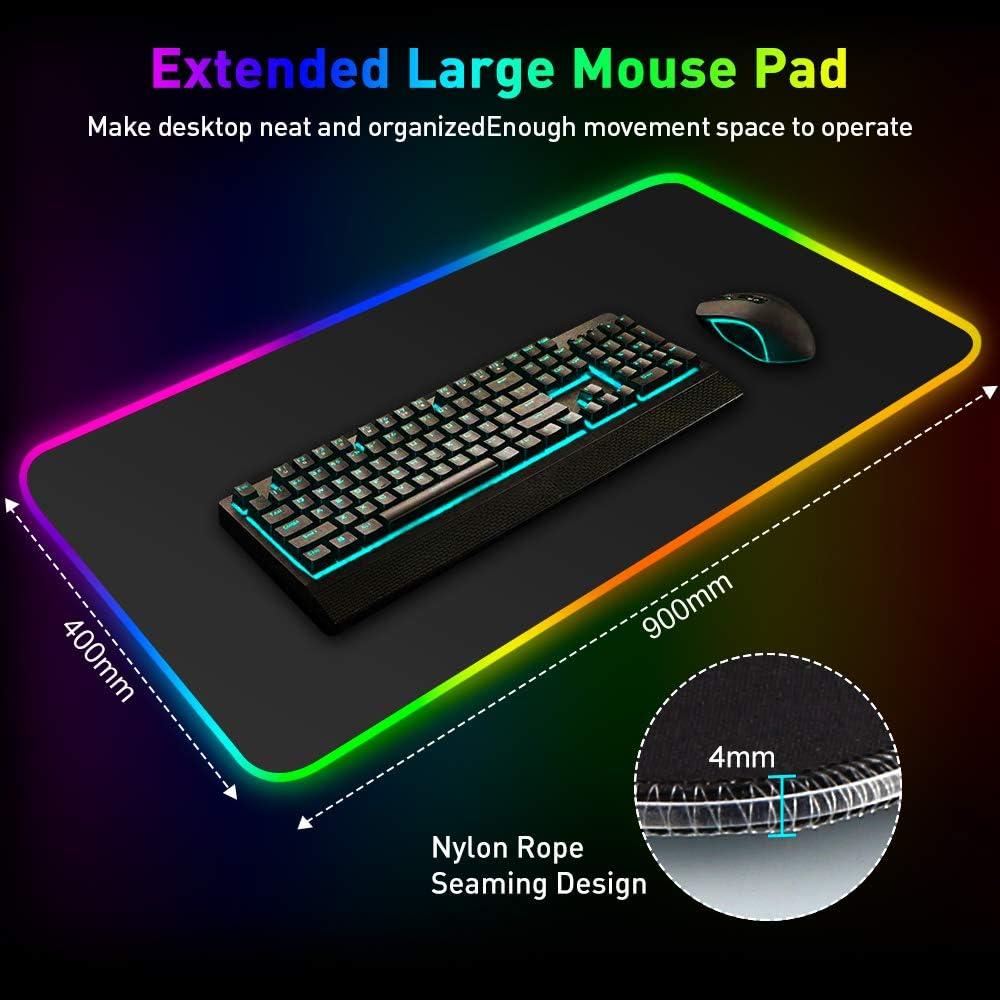Rgb Gaming Mauspad Archeer 900 400 Mm Led Mousepsd Elektronik