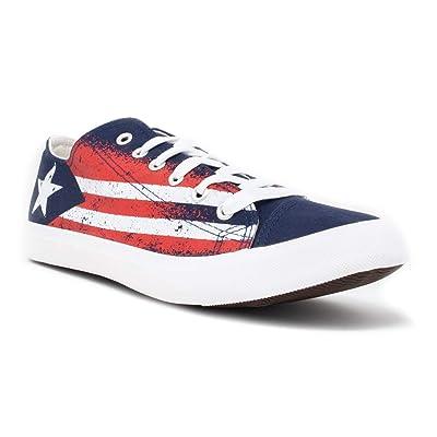 Puerto Rico Flag Sneakers | Cute Fun Rican Nuyorican Gym Tennis Shoe - Women Men | Fashion Sneakers