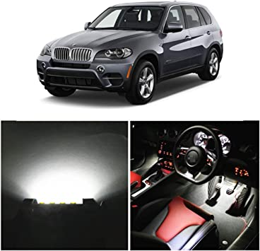 20 x Xenon White SMD LED Interior Lights Package Kit For 2007-2013 BMW X5 E70