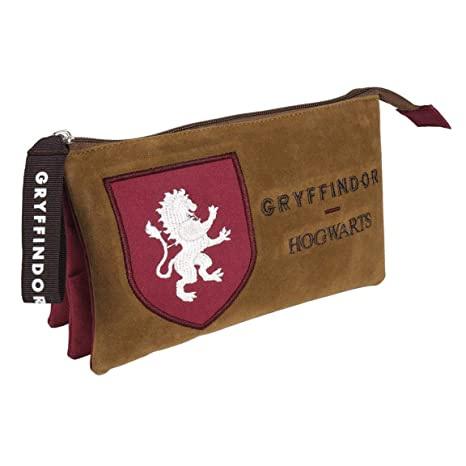 Artesania Cerda Harry Potter Gryffindor - Estuche con 3 Compartimentos, Rojo, 22 cm