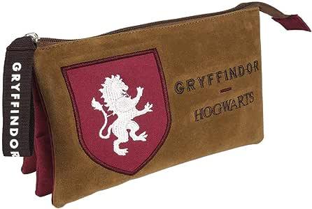 Artesania Cerda Harry Potter Gryffindor, Estuche/Portatodo Plano 3 Compartimentos, 22 cm, Rojo: Amazon.es: Equipaje