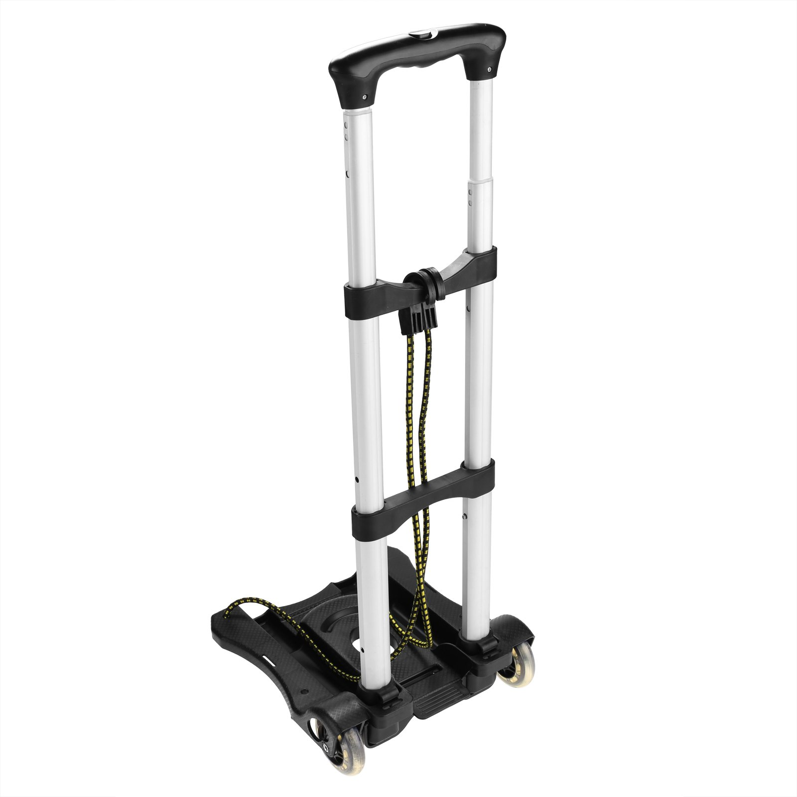 Anfan Folding Luggage Cart Portable Personal Moving Hand Truck 2 Wheels Foldable Platform Truck Shopping Cart - Support 80lbs Capacity by Anfan (Image #2)