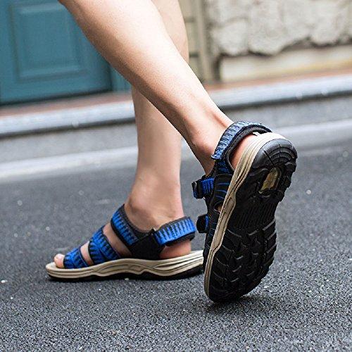 Velcro Blue Sports Yellow Walking Summer Open Outdoor Toe Beach Sandals Fisherman Adjustable Blue JOYTO Shoes 9 Red Mens 6 Orange wnpfHXWq