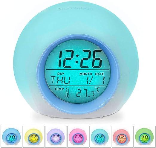 HAMSWAN Despertadores, [Regalo] Reloi Alarma, Clock, Despertadores ...