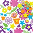 Flower Garden Foam Stickers (Pack of 200)