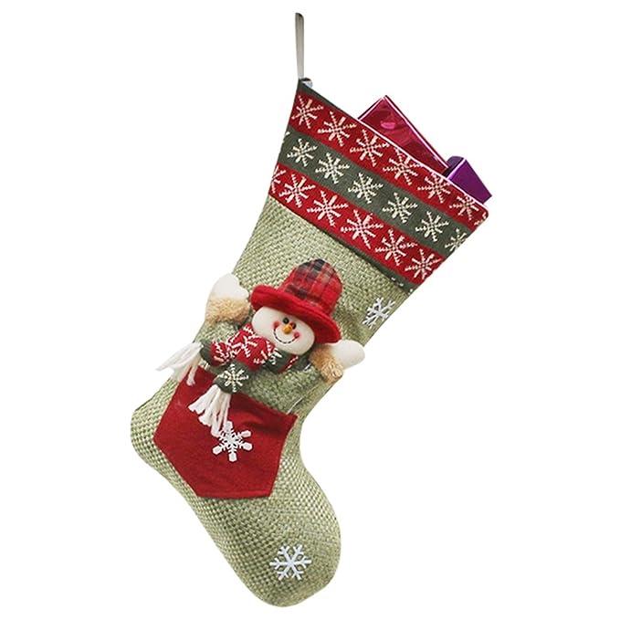 YiLianDa Navidad Calcetines Regalo De Navidad Calcetines De Embalaje Decoración Del Ornamento Del Arbol De Suministros