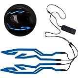 Motorcycle Helmet Light 4 Pcs Night Riding Led El Cold Light Strip Bar Kit, 3 Mode Ride Signal LED Light