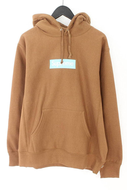 (シュプリーム) SUPREME 【17AW】【Box Logo Hooded Sweatshirt】ボックスロゴプルオーバーパーカー(L/ブラウン) 中古 B07D66JXKR