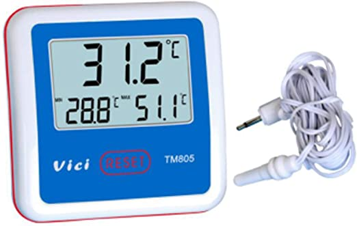 Termómetro TM805 Termómetro para refrigerador/congelador Pantalla ...