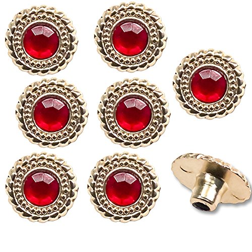 Figures Toy Company Set of 8 Replacement Ruby Rivets for WWE World Heavyweight Championship Adult Size Replica -