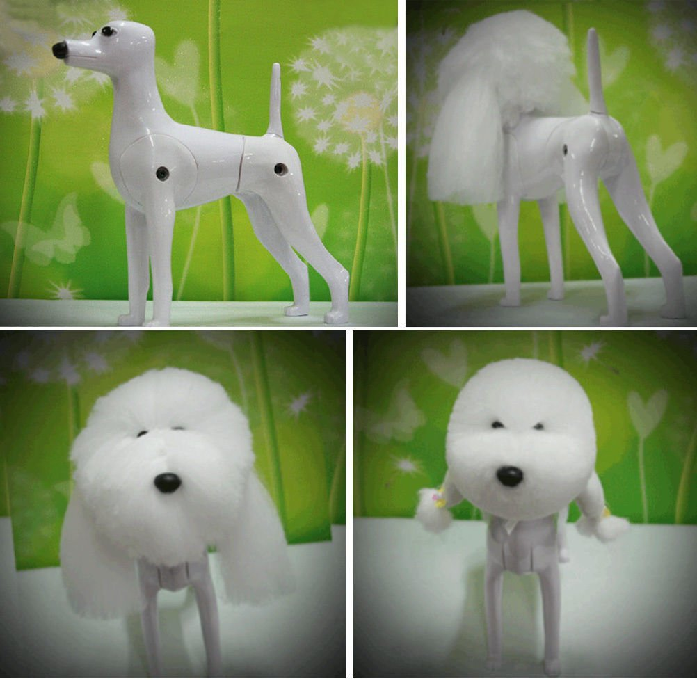 Dog Model, Dog Mannequin + Dog Wig for Hair Grooming Practice for Dog Groomers Professional Dog Grooming Supplies